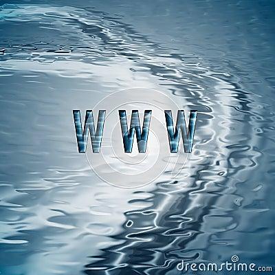 Fundo com símbolo de WWW.