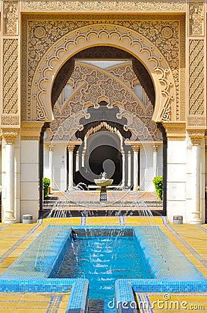 Fundo da arquitetura islâmica do detalhe