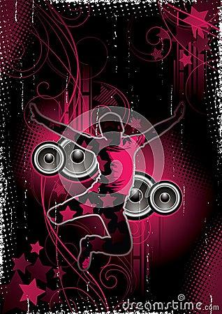 Fundo da música e da dança