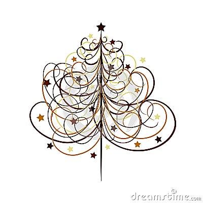 Fundo da árvore de Natal, vetor