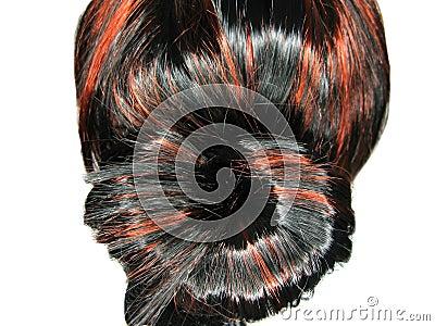 Fundo da textura do topete do cabelo do destaque