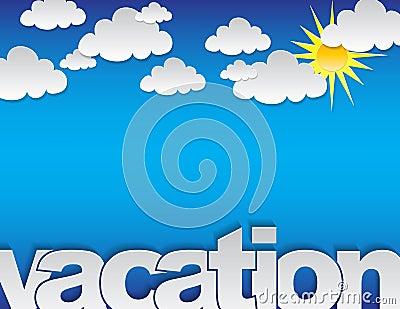 Fundo das férias