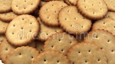 Fundo de cookies de cracker rotativo Comida desagradável filme