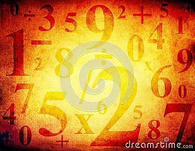Fundo de Grunge com números