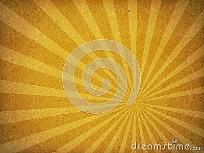 Fundo de papel velho da raia de Sun da textura do cartão