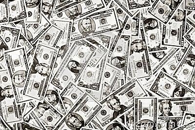 Fundo do dólar do dinheiro dos E.U.