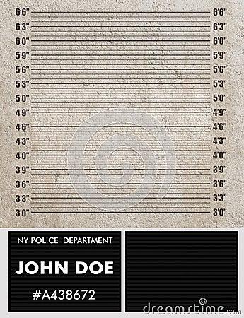 Fundo do mugshot da polícia