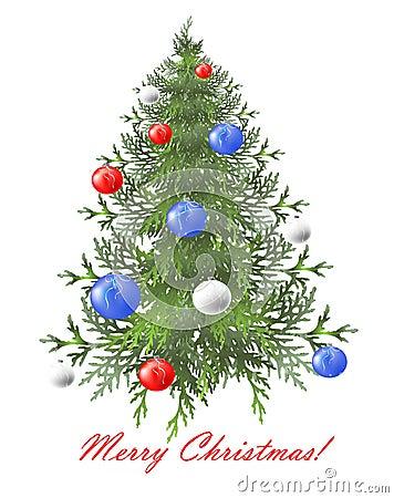 Fundo do Natal com árvore de Natal.