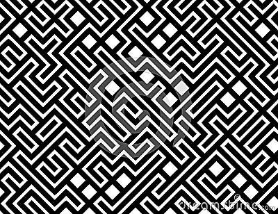 Fundo do teste padrão do labirinto do vetor