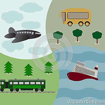 Fundo do vetor com transporte