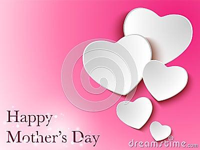 Fundo feliz do coração do dia da mãe