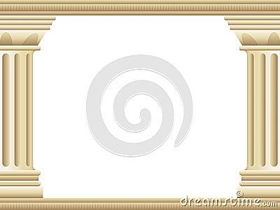 Fundo grego da coluna