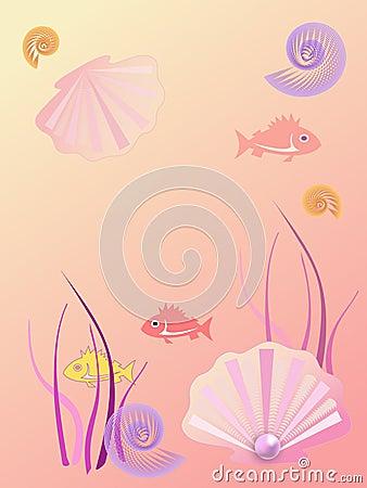 Fundo morno do mar