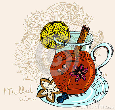 Fundo morno Mulled do vinho