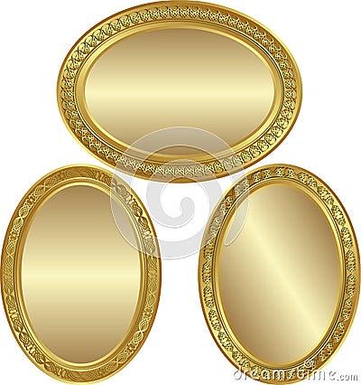 Fundo oval dourado