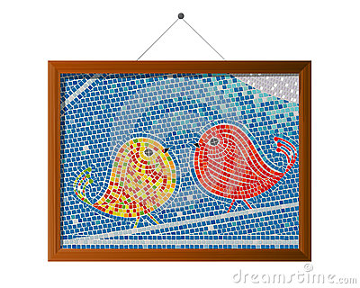 Pássaros da telha de mosaico