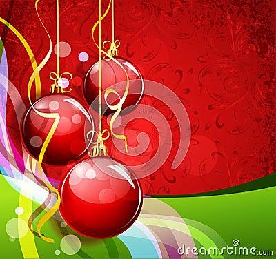 Fundo vermelho-verde de ano novo