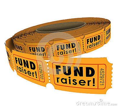 Free Fundraiser 50 Fifty Raffle Ticket Roll Charity Event Raising Mon Royalty Free Stock Images - 42346119