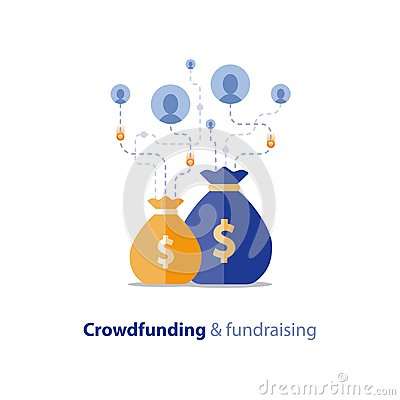 Free Fundraising Campaign, Crowdfunding Concept, Charity Donation, Vector Illustration Royalty Free Stock Photo - 107683585