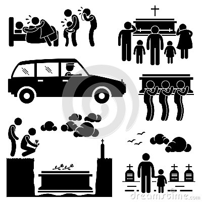 Funeral Burial Coffin Ceremony Pictogram