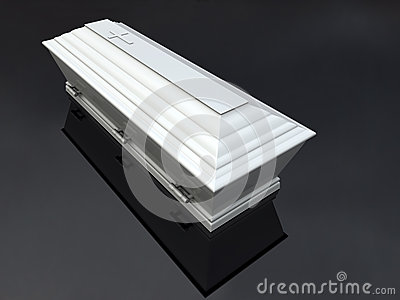 Funeral Casket White,