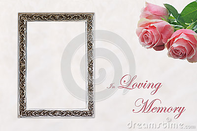 Funeral Eulogy Card Royalty Free Stock Photography Image