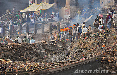 Funeral in Varanasi, India Editorial Stock Photo