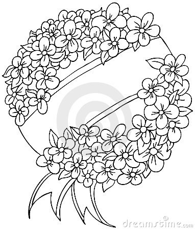 Funeral Wreath - black and white