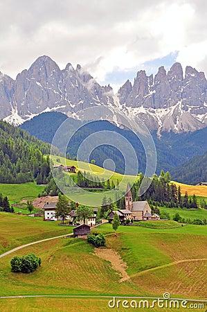 Funes valley, Bolzano. Italy