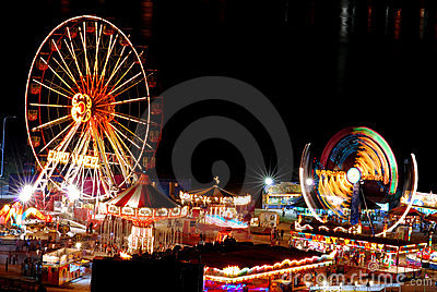 Funfair Editorial Stock Photo