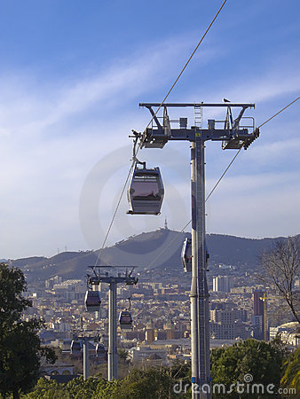 The funicular: Barcelona modern cable railway