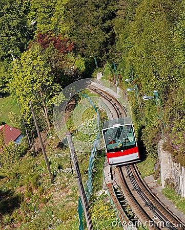 Free Funicular Climbing Mount Floyen, Bergen, Norway Stock Images - 11361114