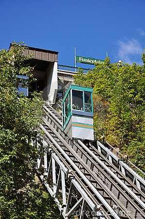 Funicular of Old Quebec City Editorial Stock Photo