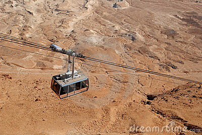 Funicular over the desert