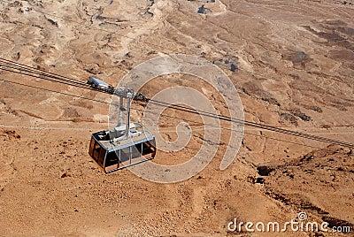 Funicular over the desert