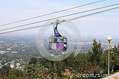 Funicular to Kok Tobe mount