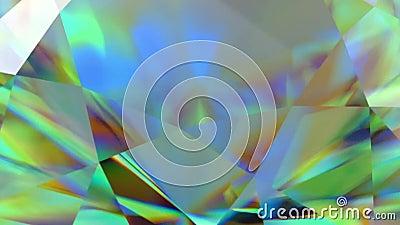 Funkelnder Diamant des Luxusedelsteins geschlungen Nahtloser Schleifenhintergrund Blauer glänzender drehender Kristall stock video footage