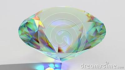 Funkelnder Diamant des Luxusedelsteins geschlungen Nahtloser Schleifenhintergrund Blauer glänzender drehender Kristall stock video