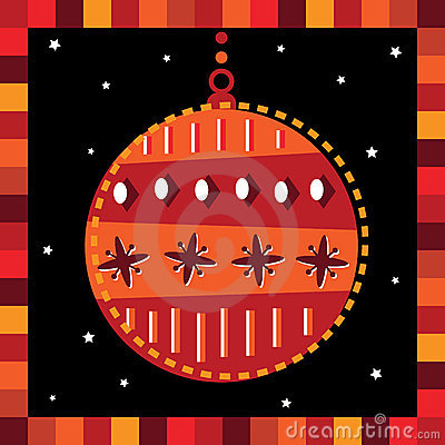 Funky bauble greeting card