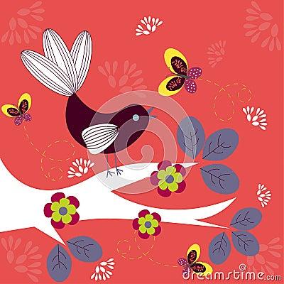 Free Funky Bird Royalty Free Stock Photos - 17497848