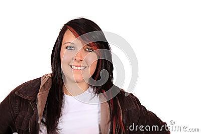 Funky brunette