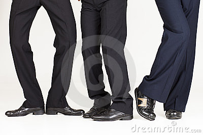 Funky businessman legs