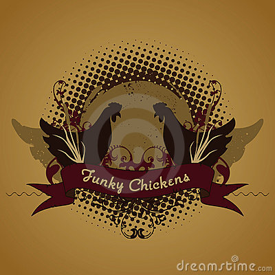 Free Funky Chickens, Emblem Royalty Free Stock Image - 2817476