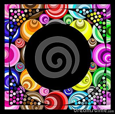 Funky circular frame