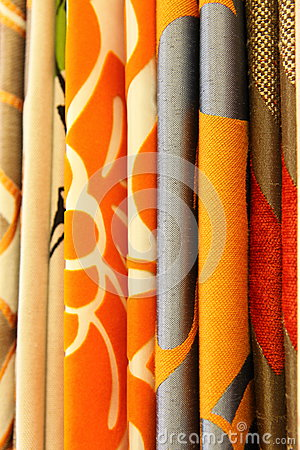 Funky contemporary curtain textile
