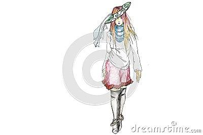 Funky Fashion Model