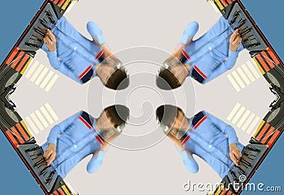 Funky female dj pattern