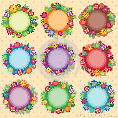 Free Funky Floral Frames Royalty Free Stock Photography - 30293207