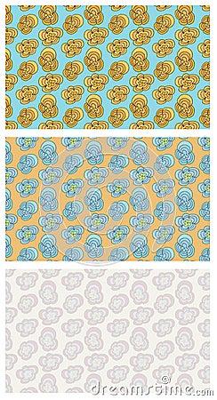 Funky Flowers Seamless Pattern