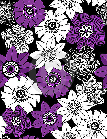 Funky Flowers Seamless Repeat Pattern